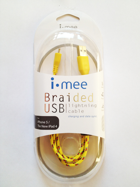 Кабель i-Mee Lightning Cables для Apple iPhone 5/5S/5C/New iPad 4 - желтый