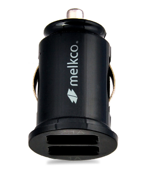 Автомобильное з/у Melkco Car Charger Dual USB Port with 1.0A and 2.1A output - C1 (Black)