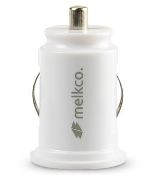 Автомобильное з/у Melkco Car Charger Dual USB Port with 1.0A and 2.1A output - C2 (White)